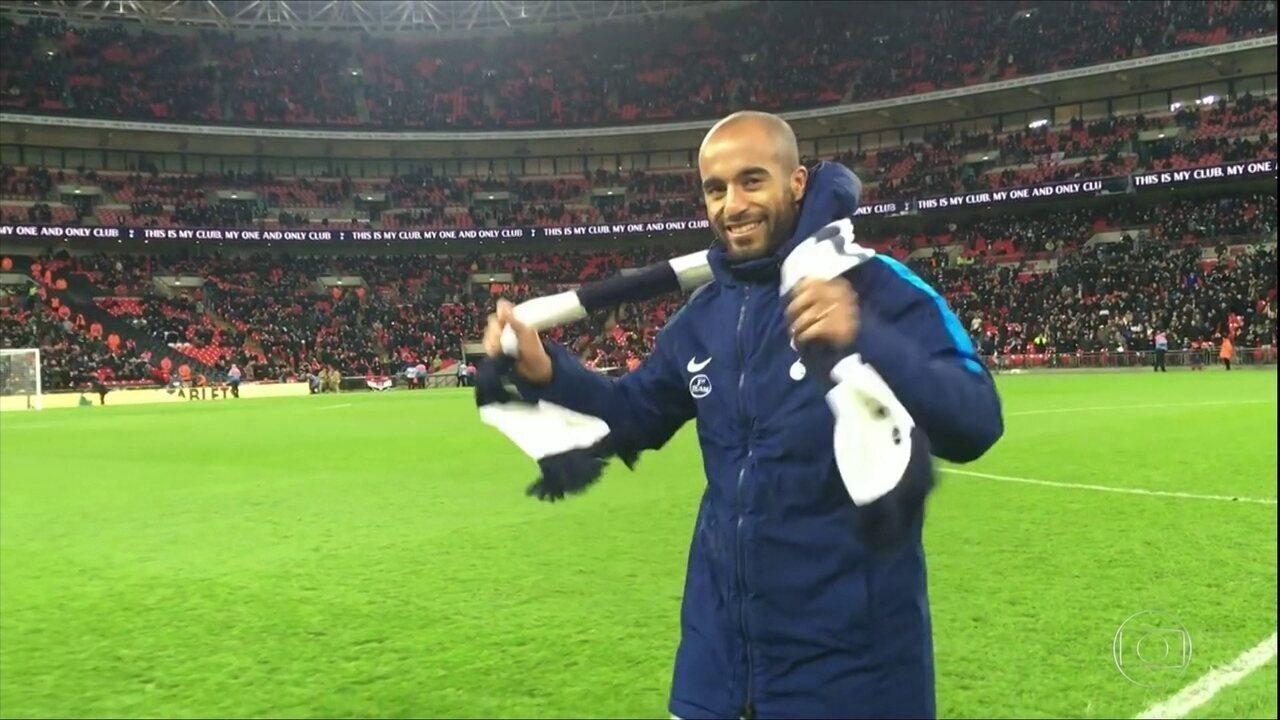 Lucas chega ao Tottenham e já quer brilhar na Champions
