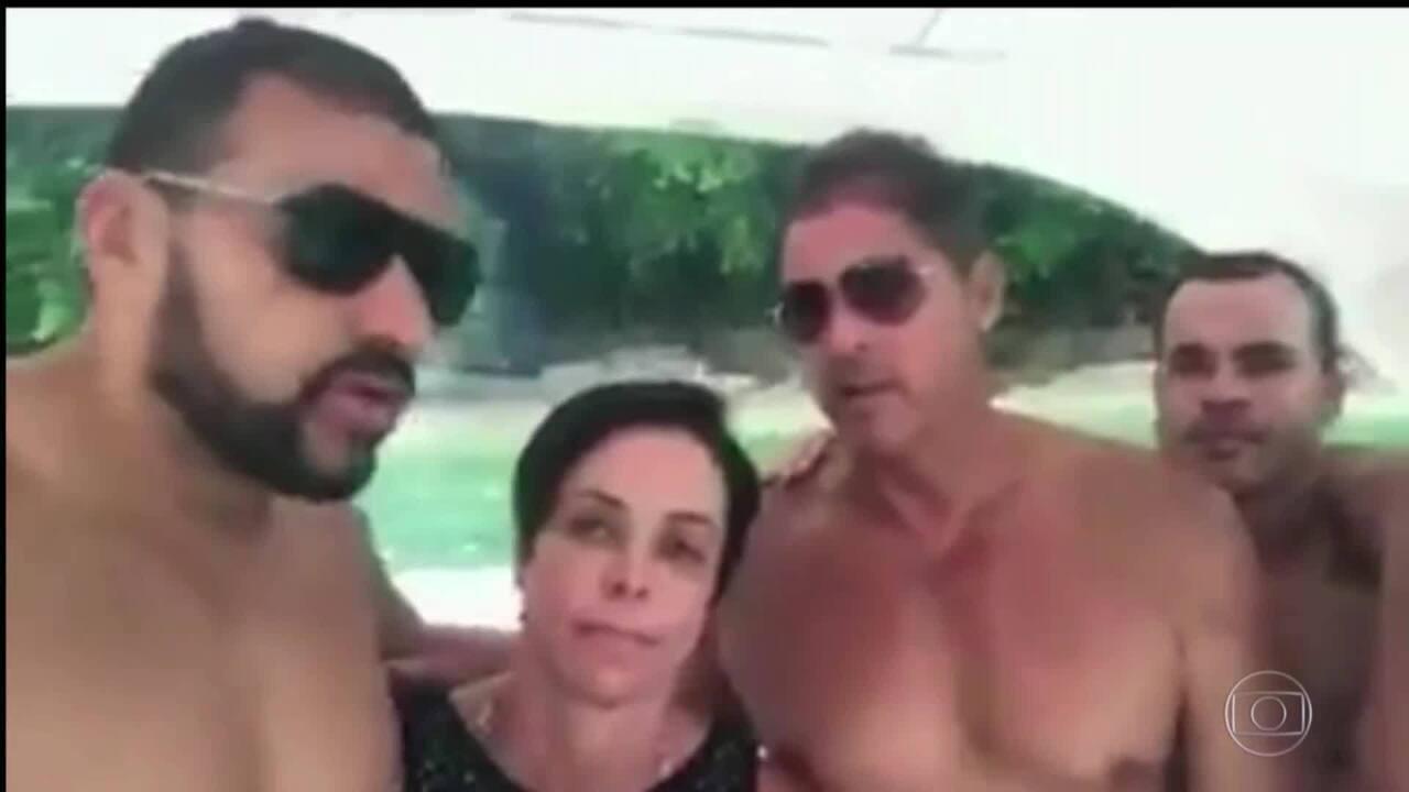 Cristiane Brasil aparece em vídeo em barco defendendo sua nomeação