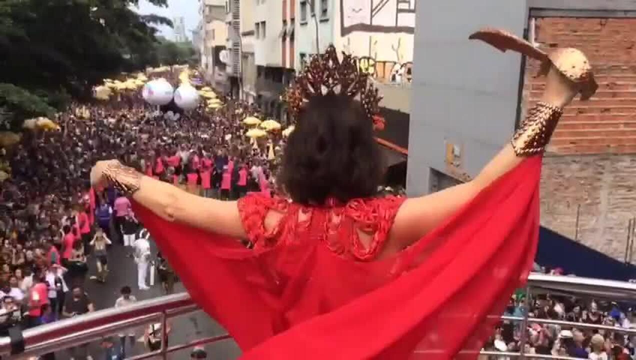 Alessandra Negrini é rainha do Acadêmicos do Baixo Augusta