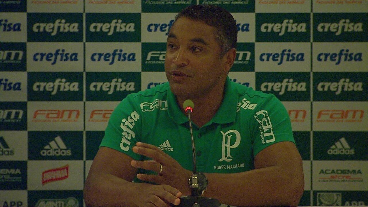 Veja como foi a entrevista do técnico Roger Machado, do Palmeiras, após o clássico