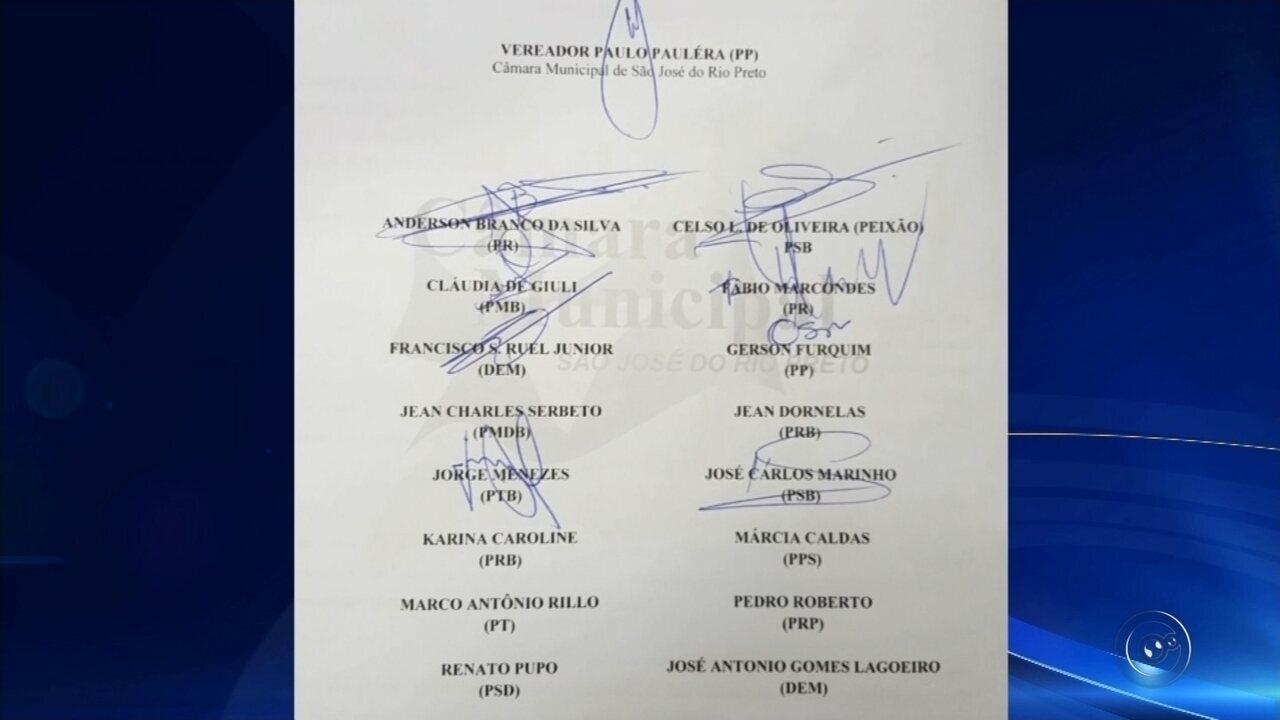 Vereadores de Rio Preto protocolam pedido de abertura de Comissão de Inquérito