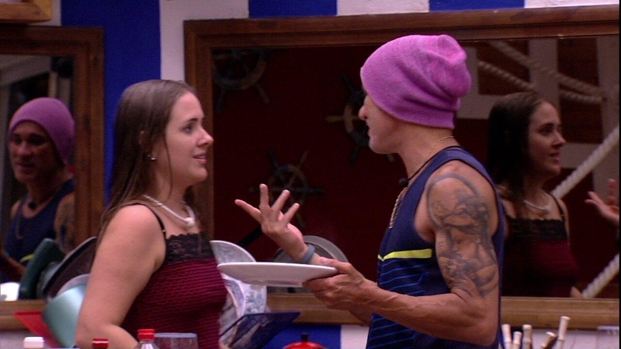Patrícia e Ayrton debatem sobre testamento de Jaqueline