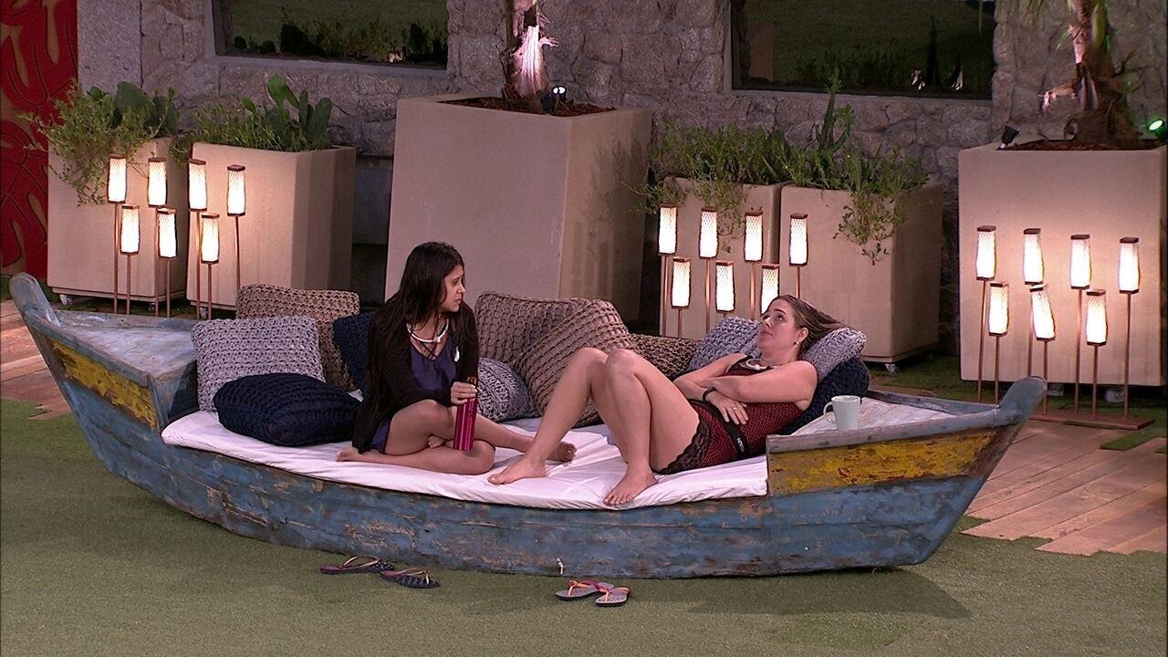 Patrícia fala com Ana Paula sobre desejo: 'Queria ganhar o Anjo amanhã'