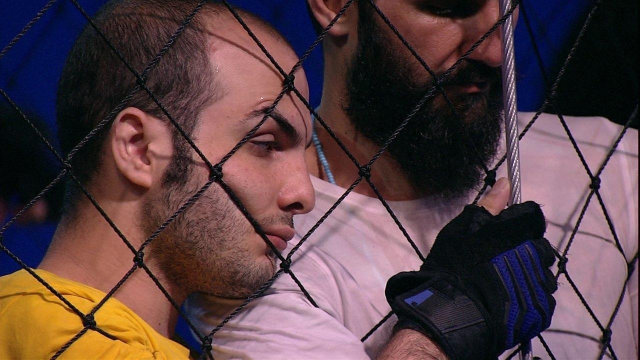 Mahmoud abraça Wagner na Prova do Líder