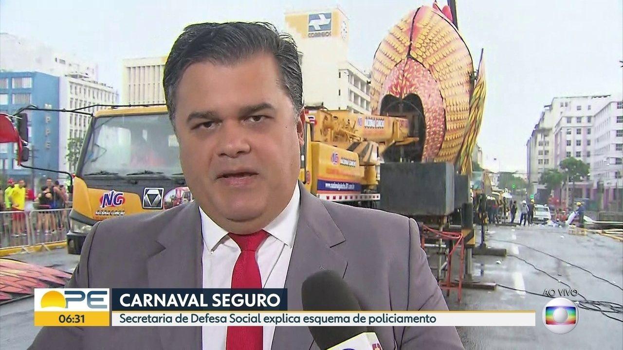 Autoridades falam sobre esquema de segurança para o carnaval 2018