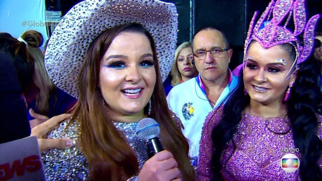 Maiara e Maraísa estreiam no samba no desfile da Rosas de Ouro