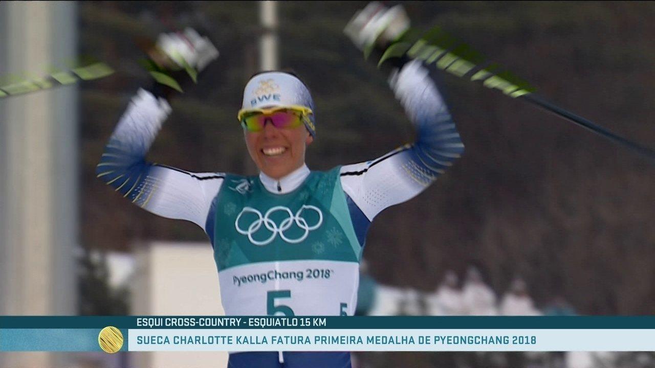 Sueca Charlotte Kalla conquista a primeira medalha de PyeongChang no esqui cross-country