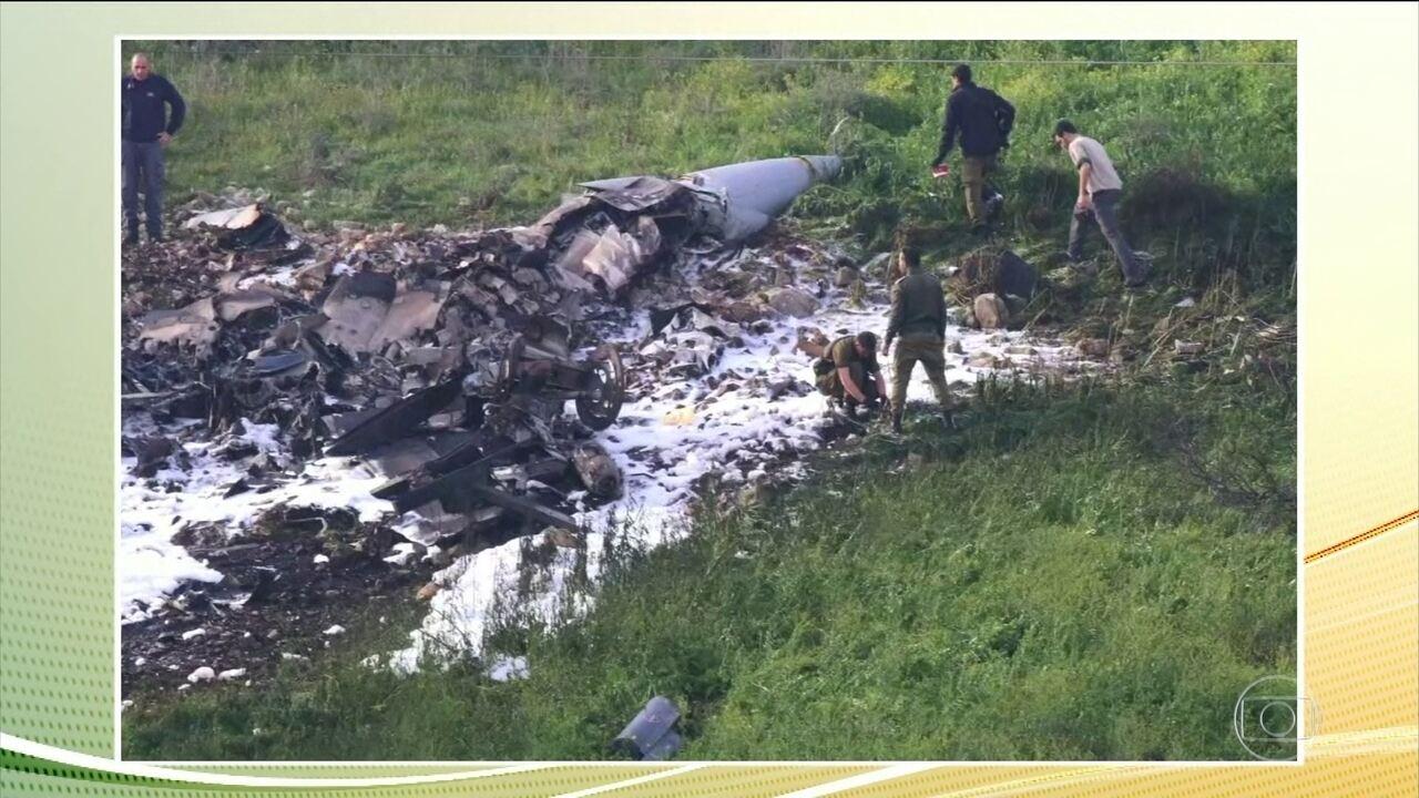 Síria abate caça israelense que fazia ataques dentro do território sírio