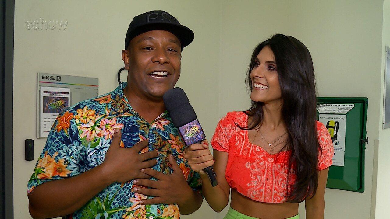 Márcio Victor fala da emoção de voltar ao palco do 'Domingão'