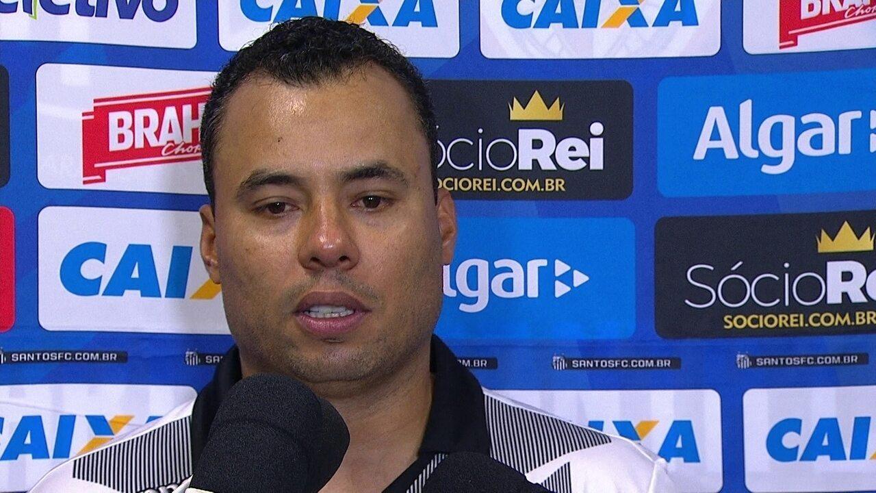 Veja entrevista coletiva do técnico do Santos, Jair Ventura, após empate com a Ferroviária