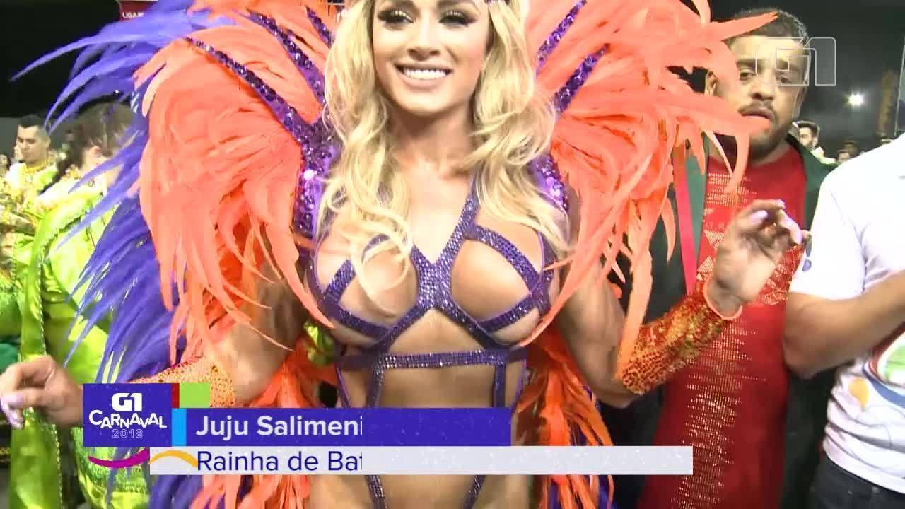 Juju Salimeni é a rainha de bateria da X-9 Paulistana