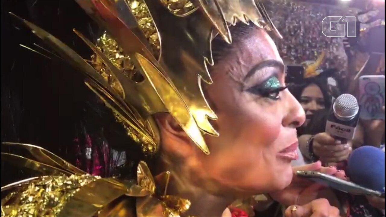 Juliana Paes confessa nervosismo antes do desfile da Grande Rio
