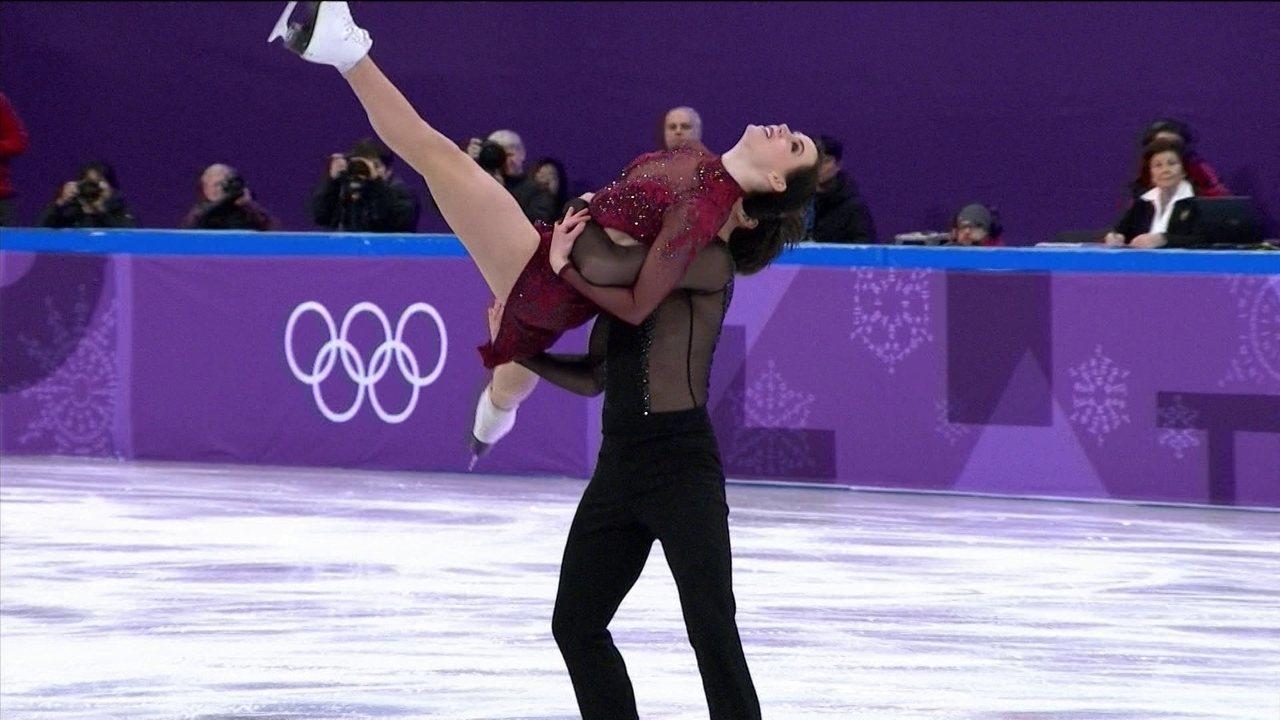 Dupla canadense marca 118.1 pontos na dança no gelo e garante ouro para a equipe do país