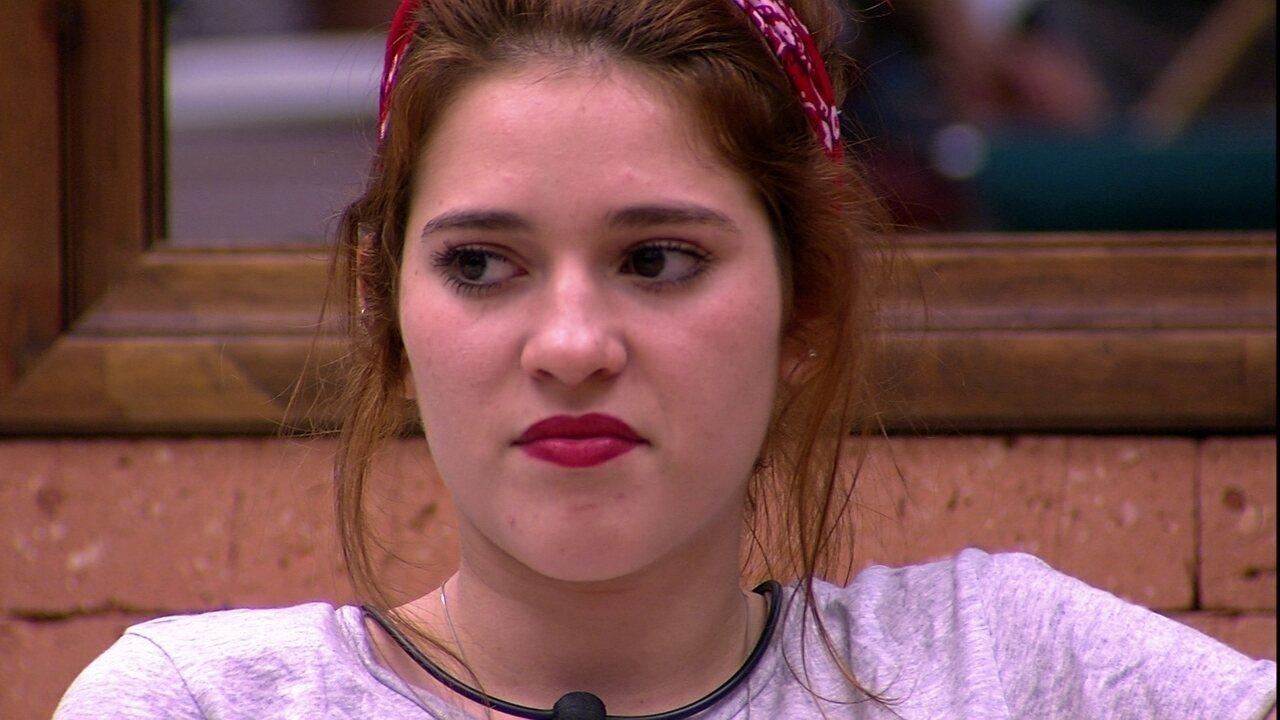 Ana Clara fala com confinados: 'Odeio essa gritaria'