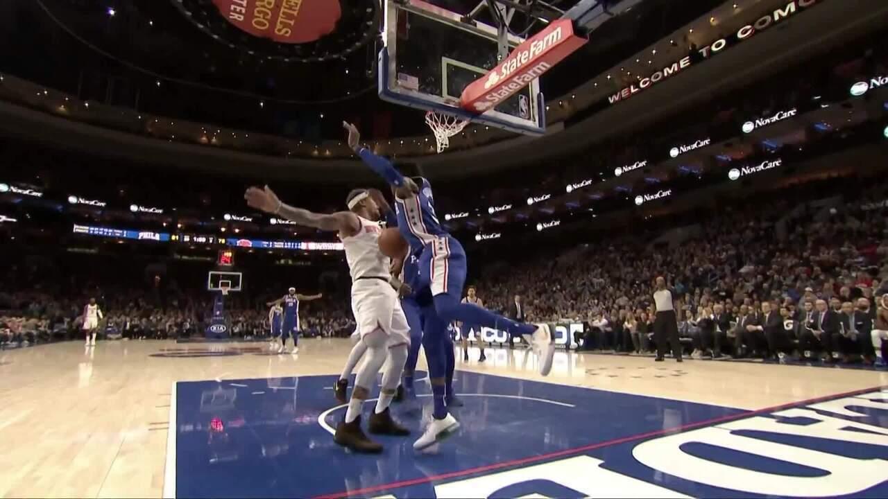 Melhores momentos: 76ers 108 x 92 Knicks pela NBA