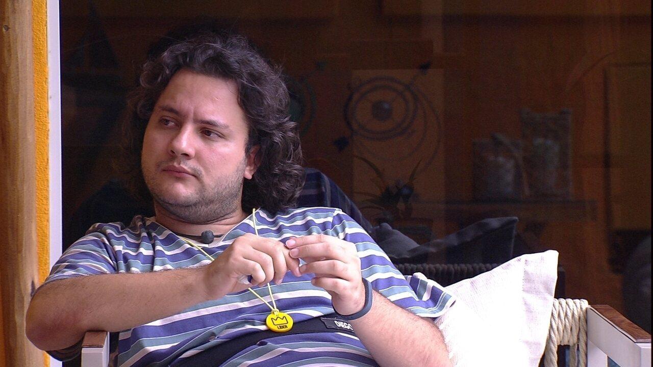 Diego comenta com Ana Paula: 'Não consigo acreditar que hoje vai ser o último dia'