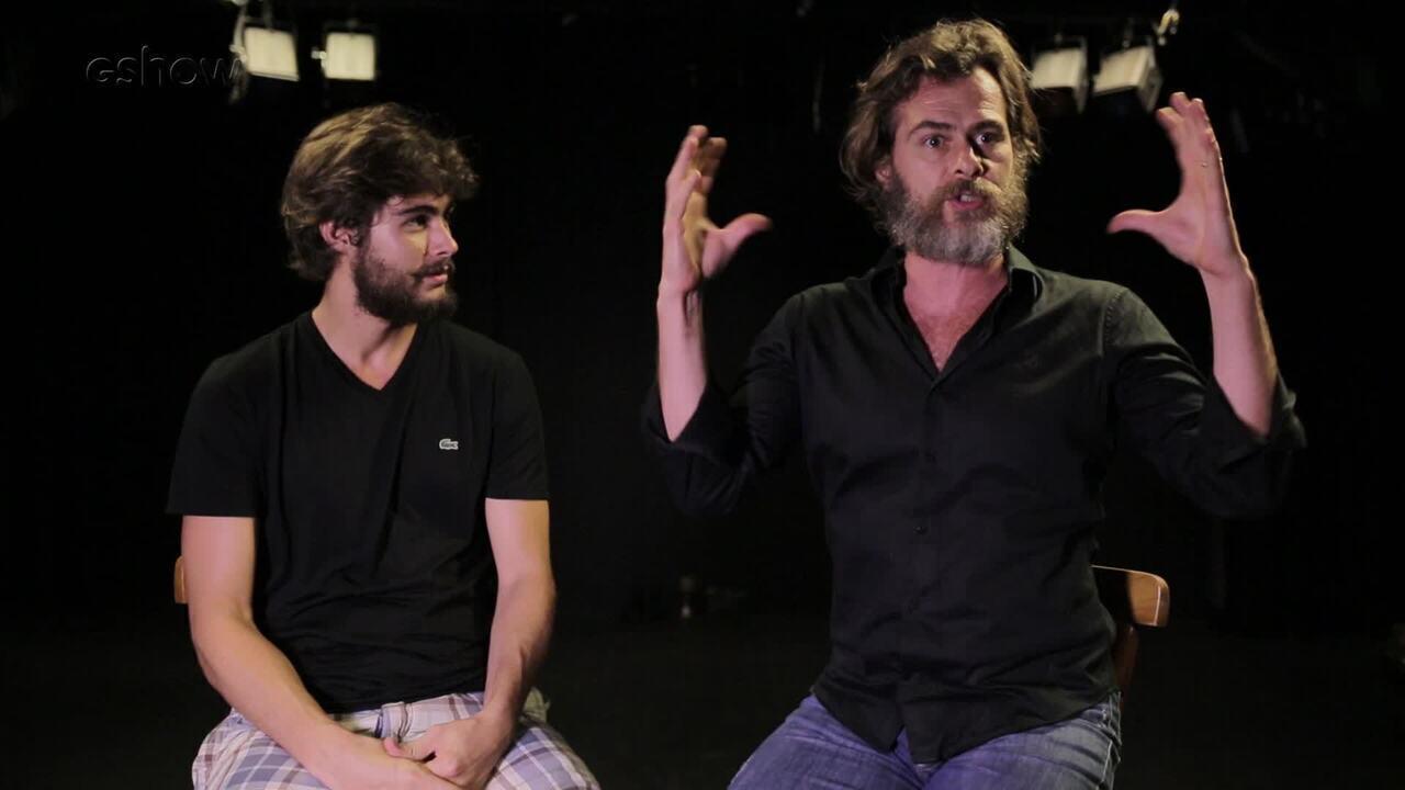 Rafael e João Vitti falam da relação de pai e filho dentro e fora de cena