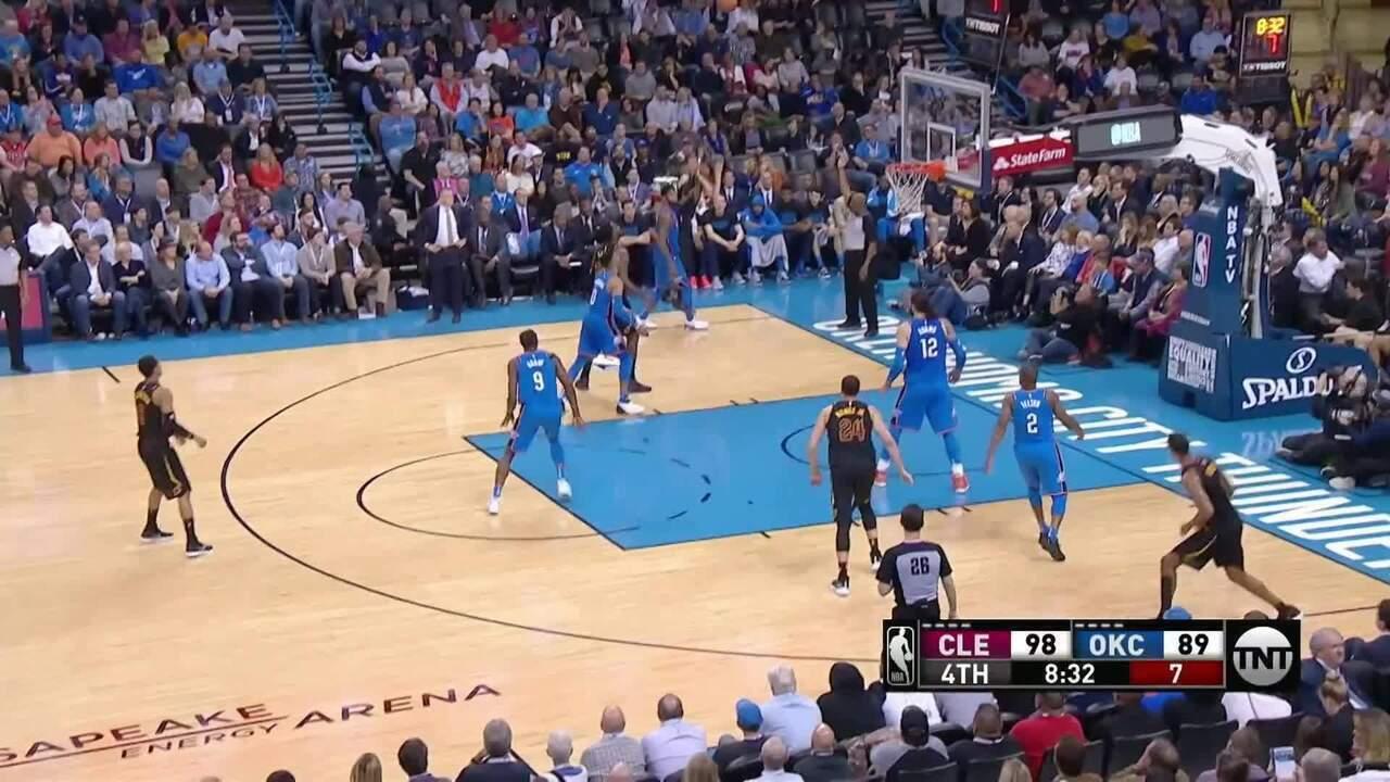 Melhores momentos: Cleveland Cavaliers 120 x 112 Oklahoma City Thunder pela NBA