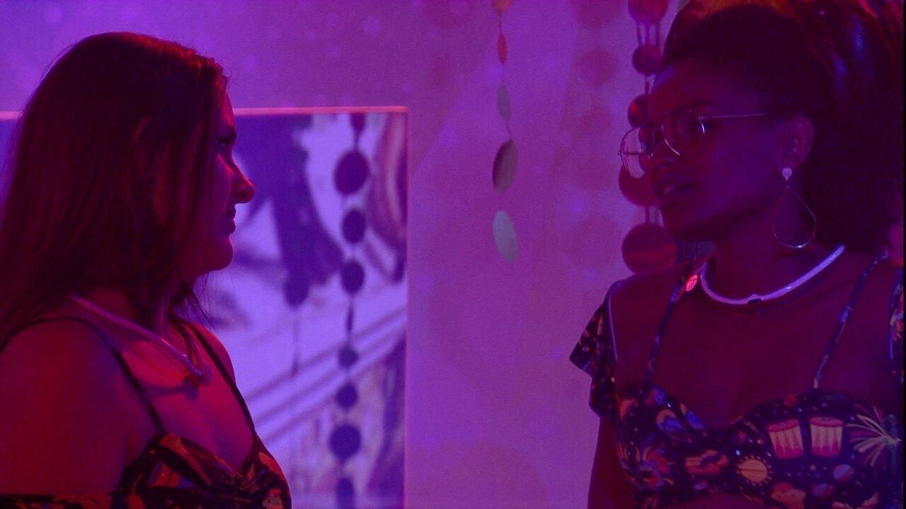 Nayara afirma para Patrícia: 'Não vou fazer média'