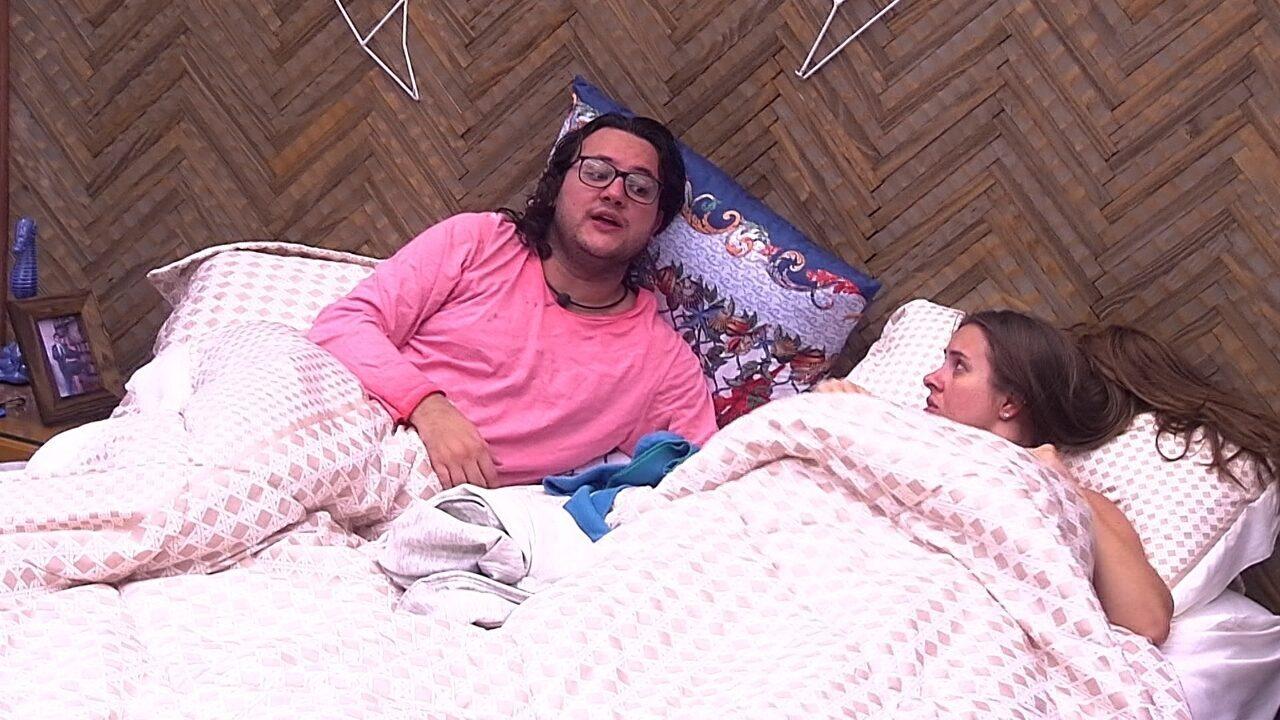 Diego conta para Patrícia e Kaysar tensão entre Lucas e Caruso