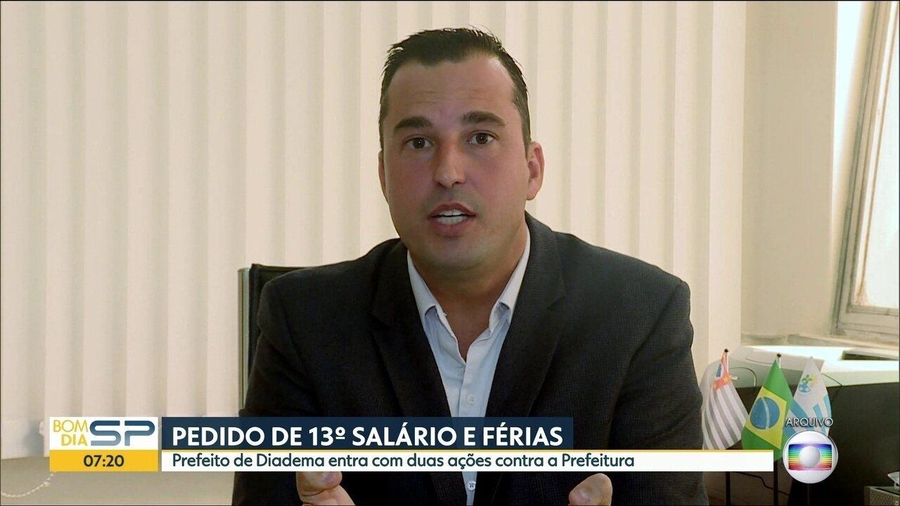 Prefeito de Diadema entra com duas ações contra a Prefeitura