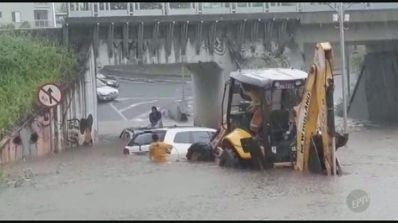 Chuva forte deixa quatro pontos de alagamento em Limeira; veja estragos nas outras cidades