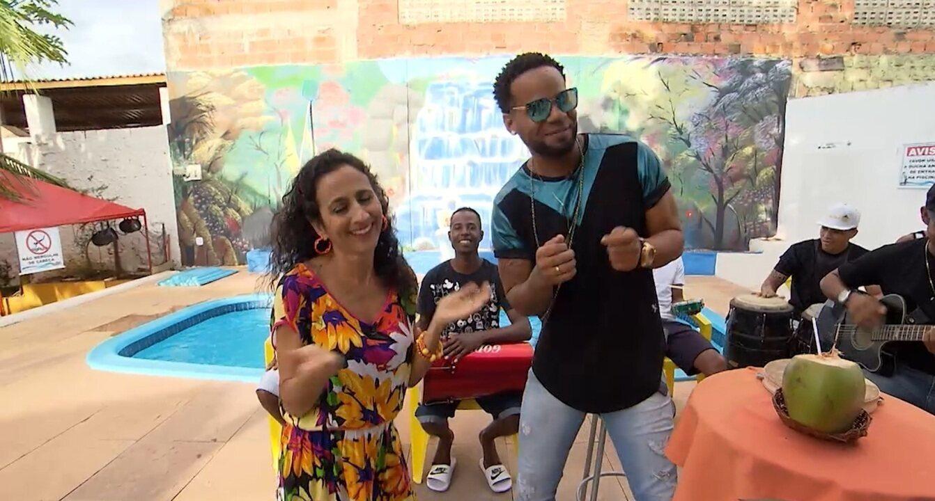 Maria Menezes vai até Villamar, experimenta drinks e curte o som da banda Samba e Rebola