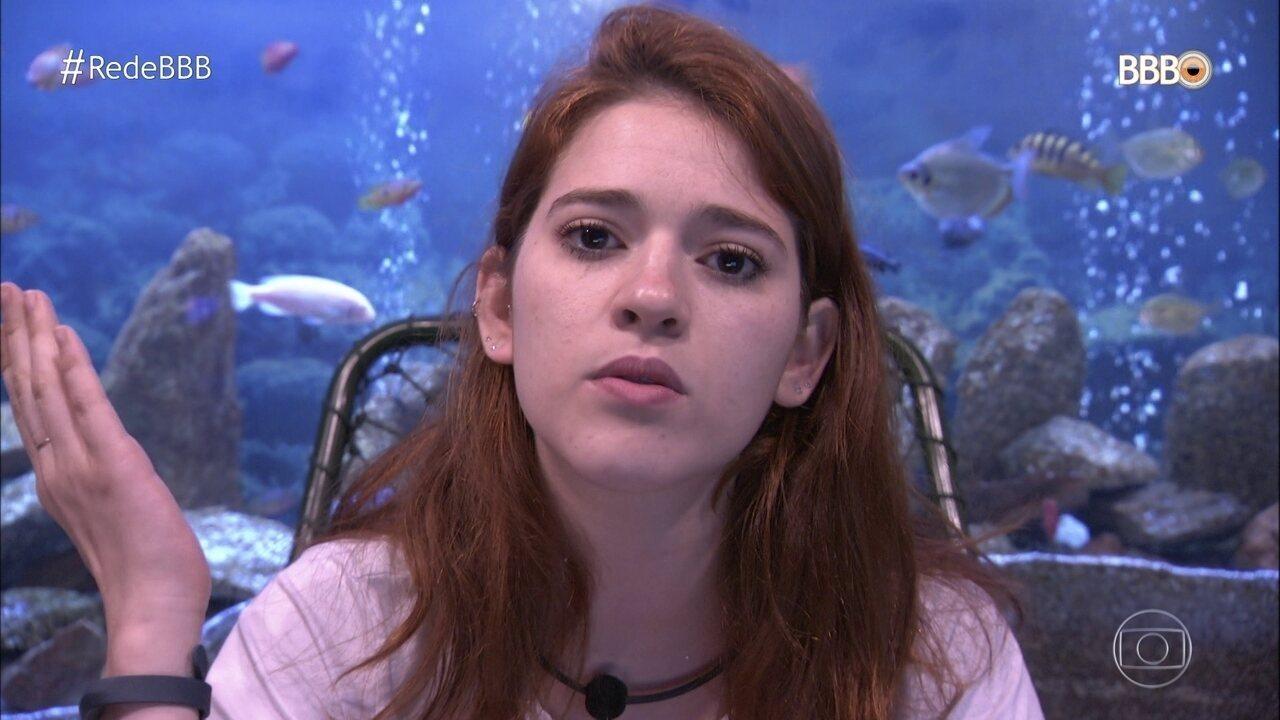 Ana Clara comenta o jogo