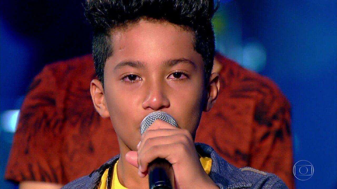 Augusto Michel, Jhony Wlad e Matheus Laurindo cantam 'Fogão de Lenha' no The Voice Kids