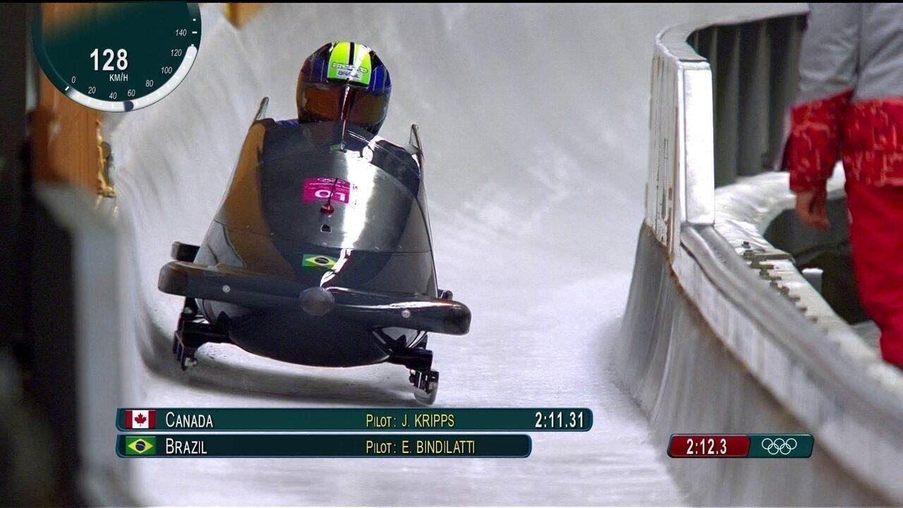 Confira descida da dupla brasileira no bobsled nas Olimpíadas de Inverno