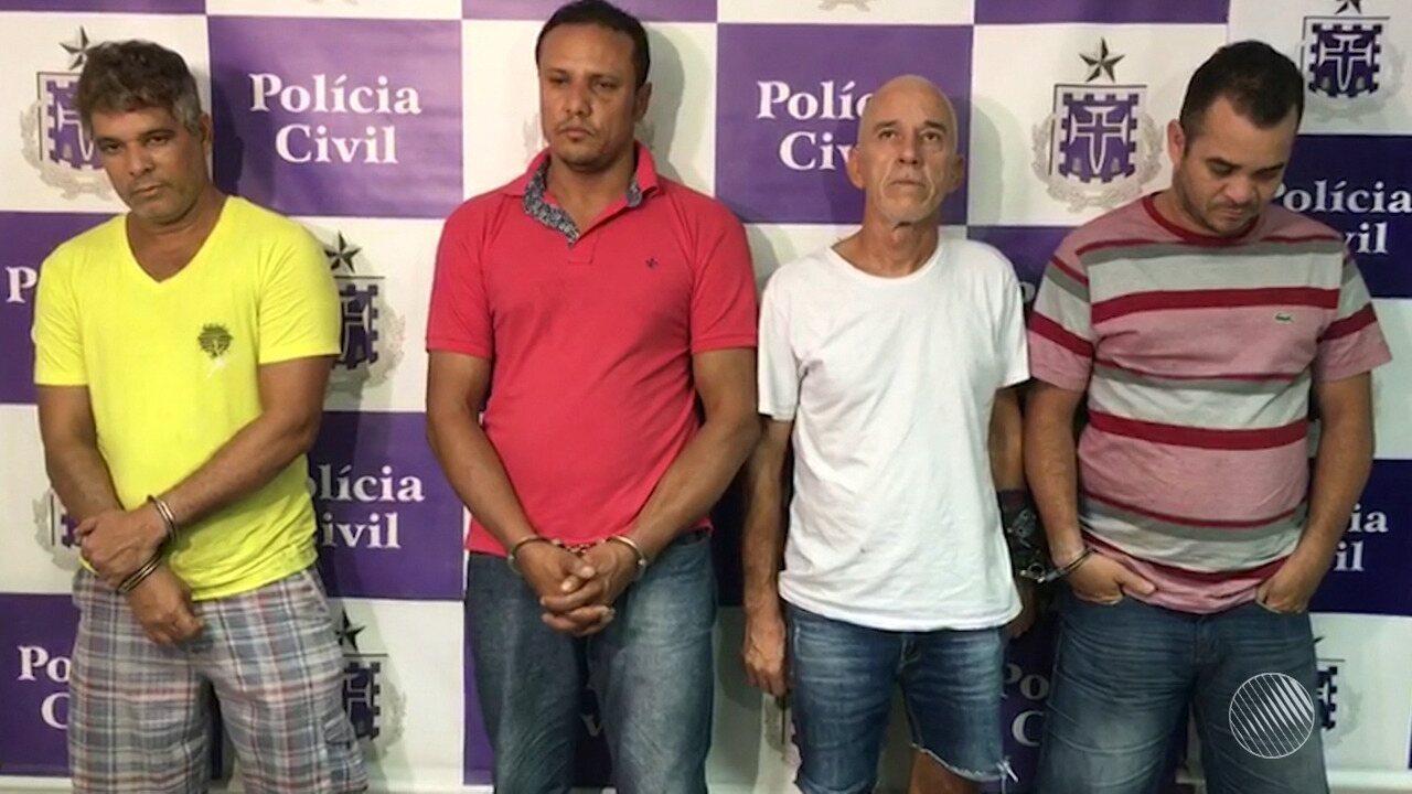 Polícia apresenta quatro suspeitos por sequestro ao ex-prefeito de Valença