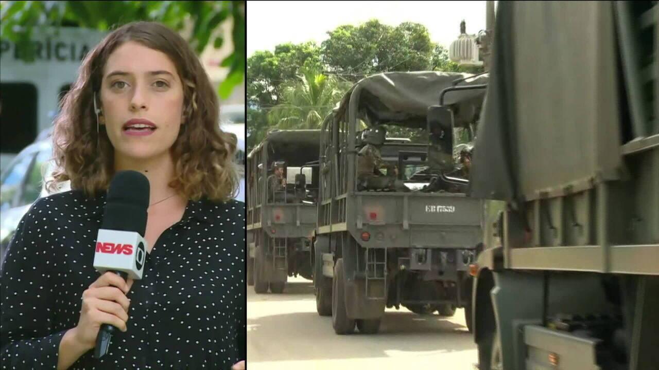 Exército participa de varredura em penitenciária do RJ