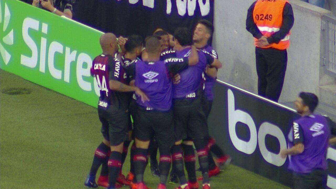 Os gols de Atlético-PR 5 x 4 Tubarão pela segunda fase da Copa do Brasil