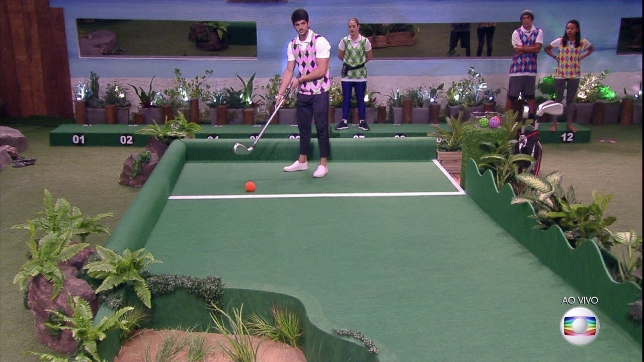 Prova do Líder Golfe Inclinado: Lucas faz 1 ponto e empata com Patrícia