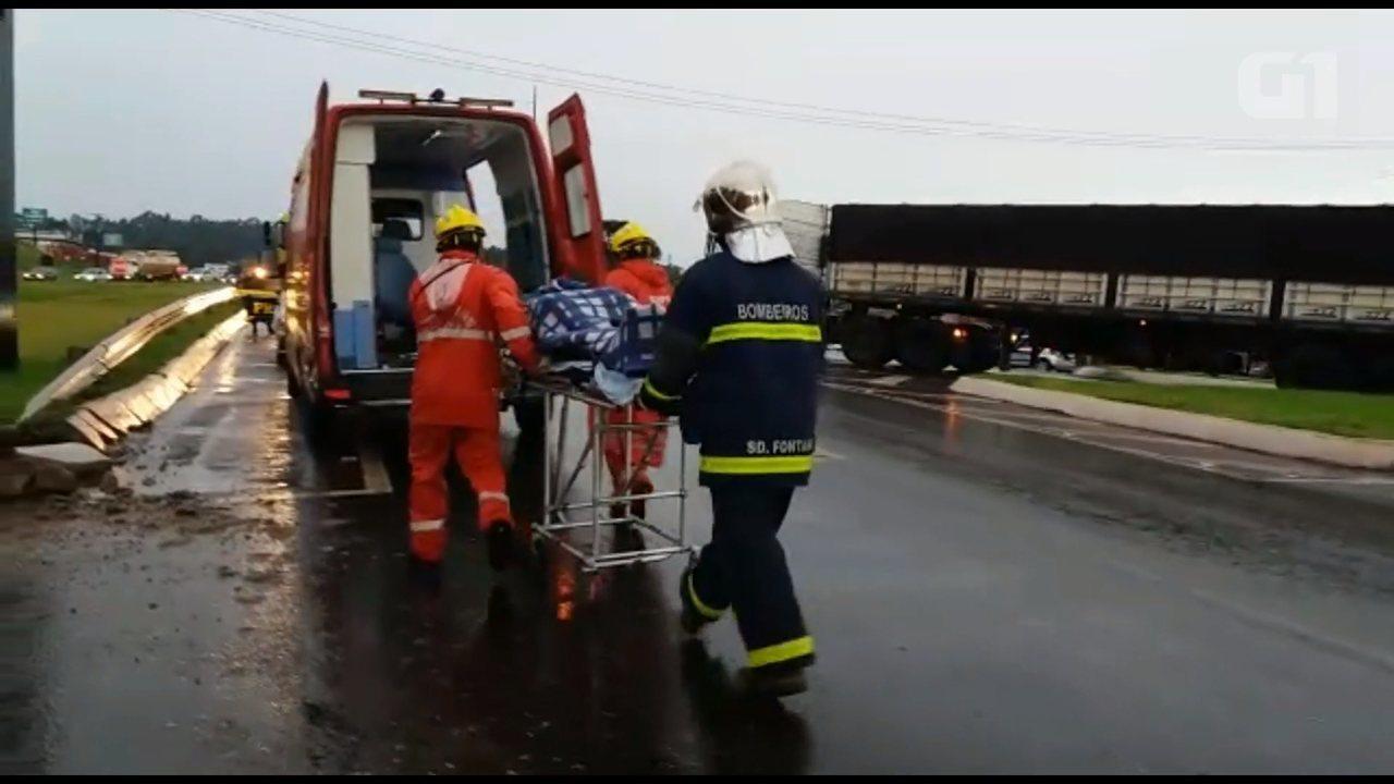 VÍDEO: veja imagens do acidente na BR-277, em Cascavel
