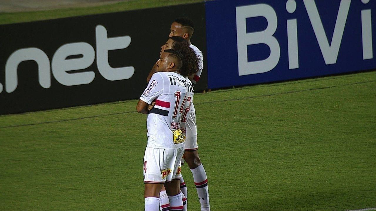 Veja os dois gols do São Paulo sobre o CRB: jogadas que são treinadas com frequência pela comissão técnica