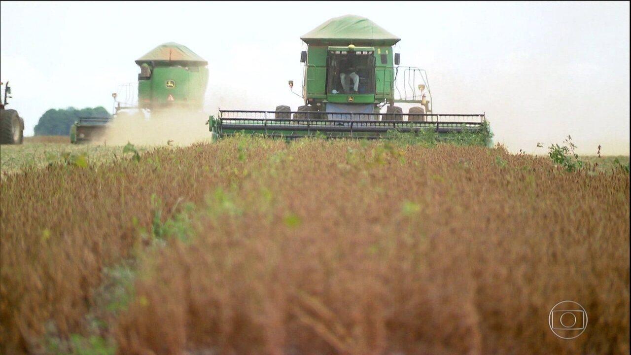 Economia brasileira cresce 1% em 2017 puxada pela agricultura