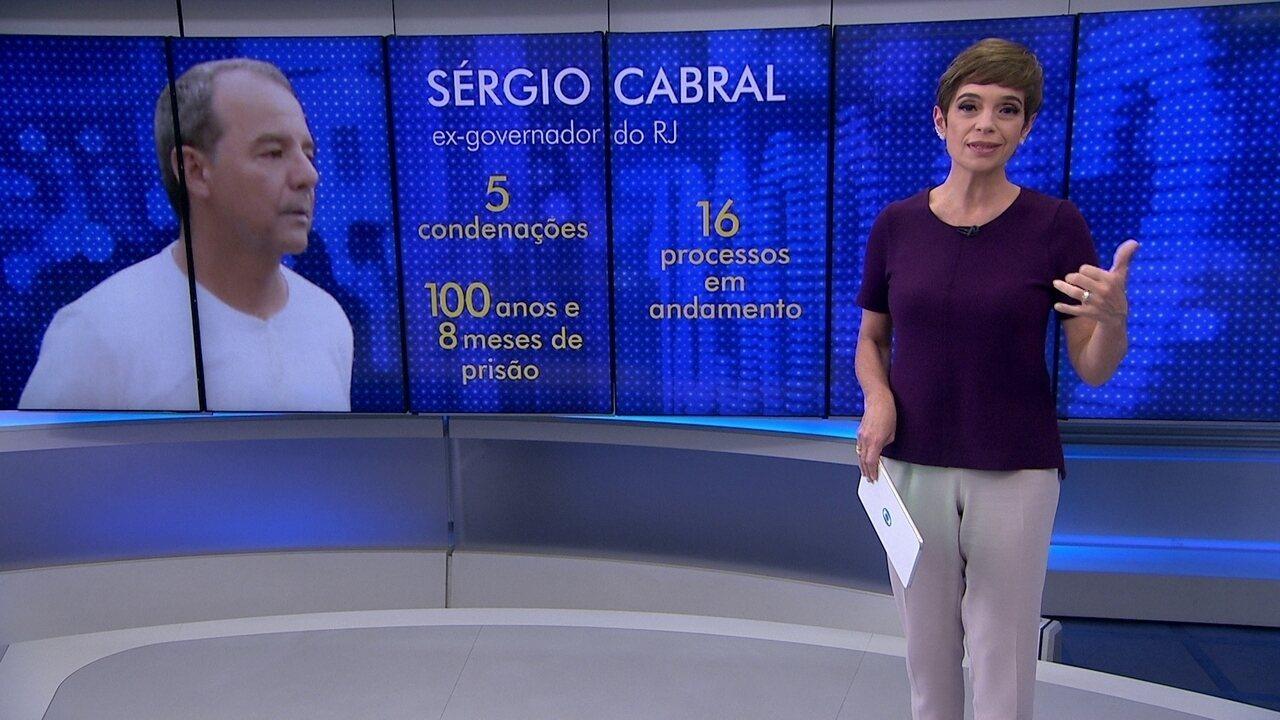 Sérgio Cabral é condenado pela quinta vez e penas de prisão somam 100 anos