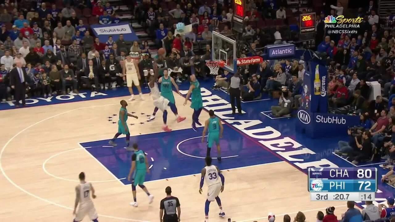 Melhores momentos: Charlotte Hornets 99 x 110 Philadelphia 76ers pela NBA