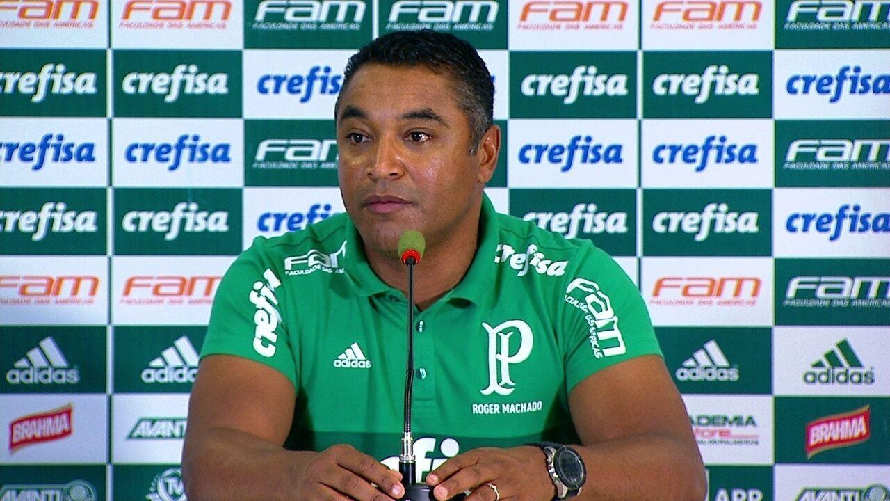 Roger Machado fala após a derrota do Palmeiras para o São Caetano