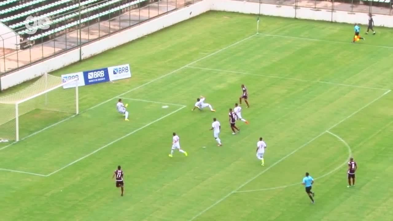 O gol de Santa Maria 1 x 0 Ceilândia pelo Campeonato Brasiliense