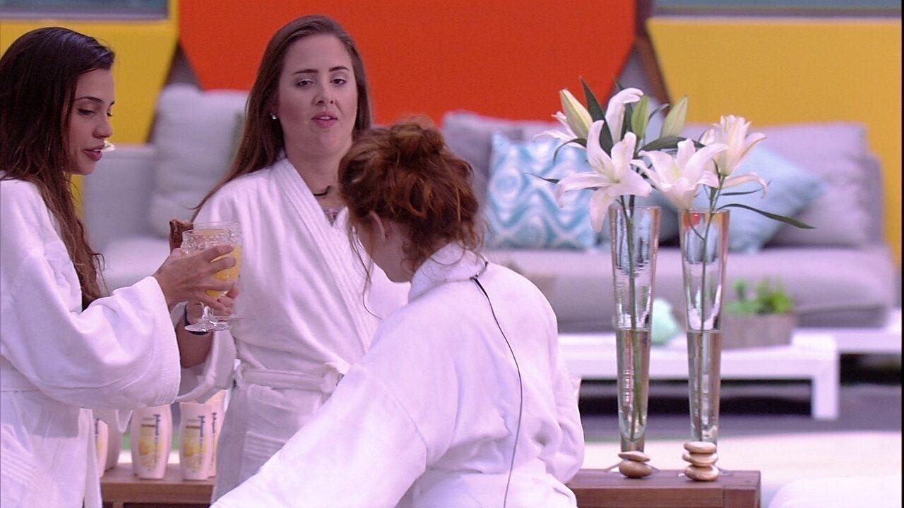 Patrícia dispara para sisters: 'Para tudo vocês demoram'