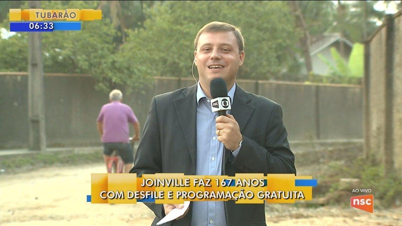 Joinville completa 167 anos com programação especial