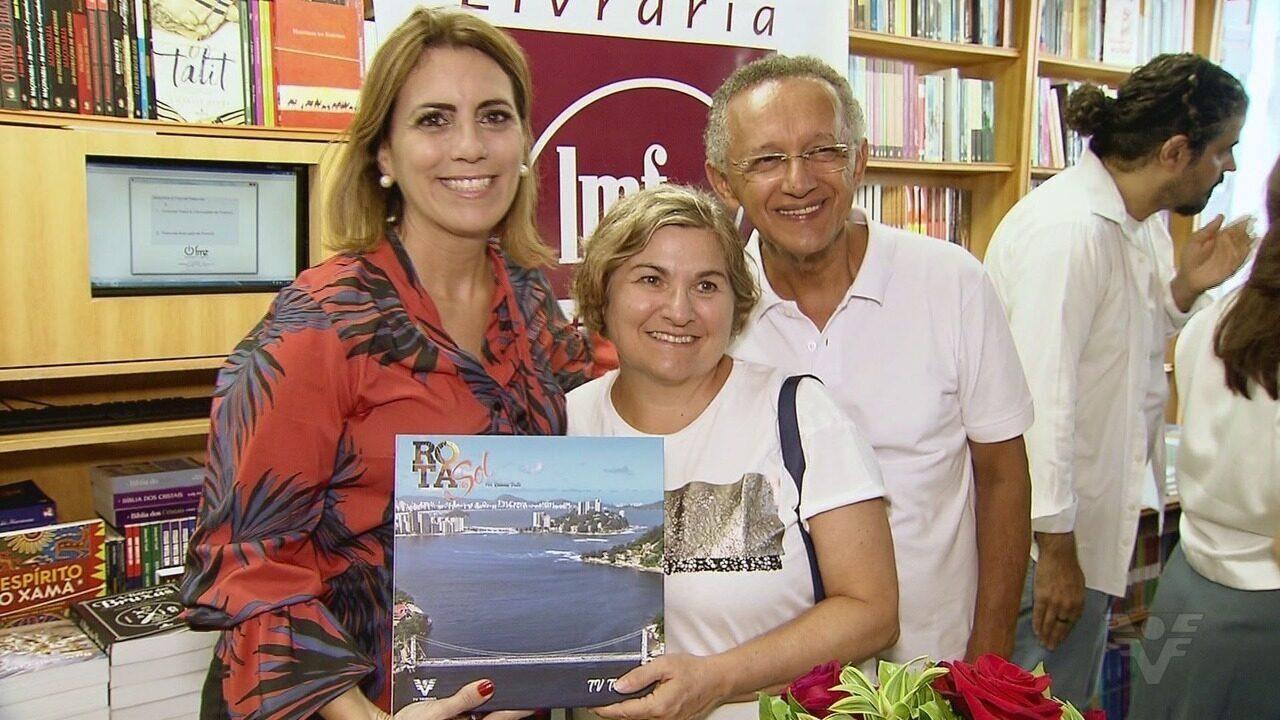 Rosana Valle lança segundo livro do Rota do Sol em Santos