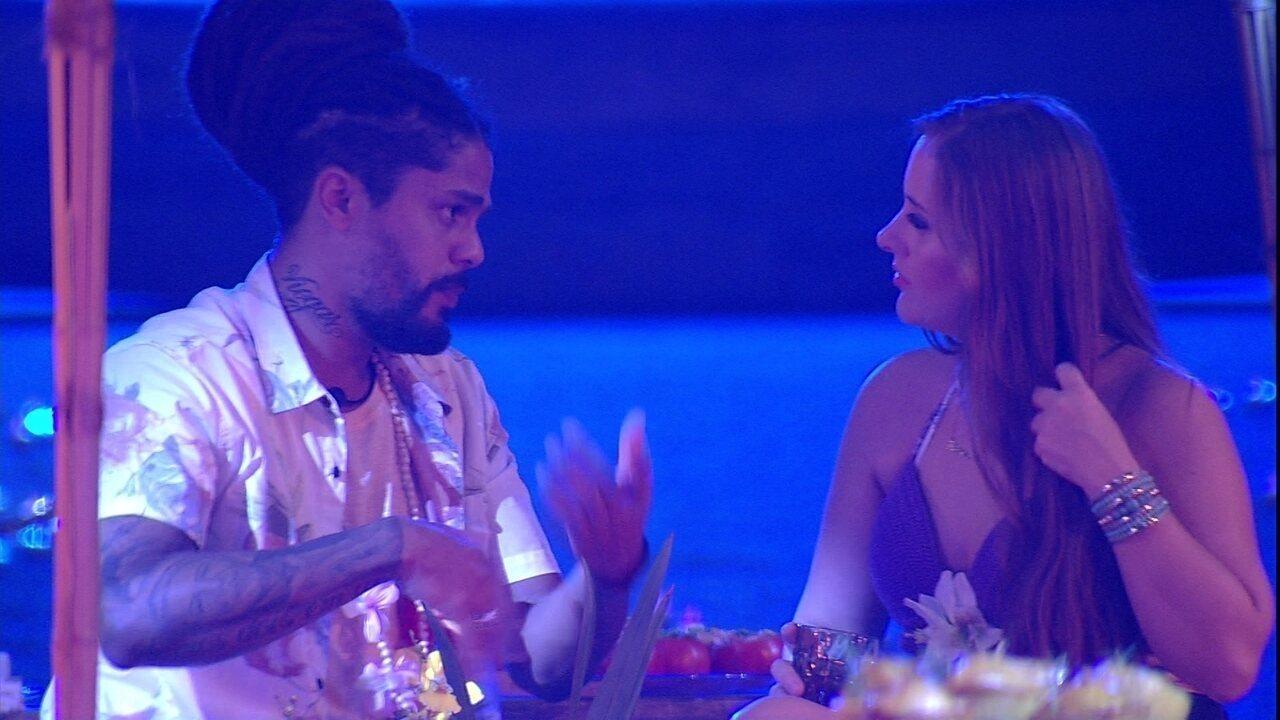 Patrícia afirma a Viegas: 'Acho que o Wagner vai te dar o Anjo'