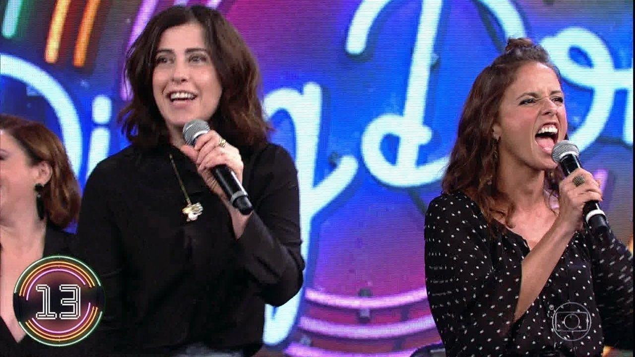 Fernanda Torres e Fernanda Freitas acertam campainha número 3 e DJ Marlboro subiu ao palco