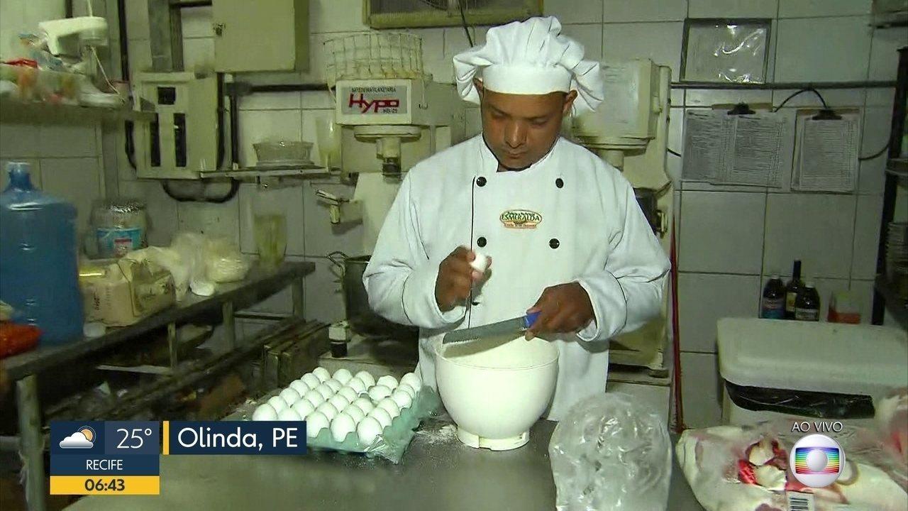 Olinda tem bolo de 5 mil fatias para comemorar o aniversário da cidade