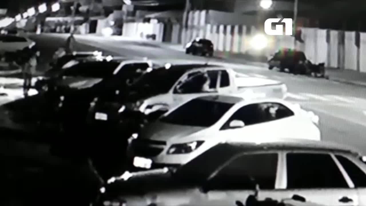 Câmera de segurança registra momento de assalto em Gurupi