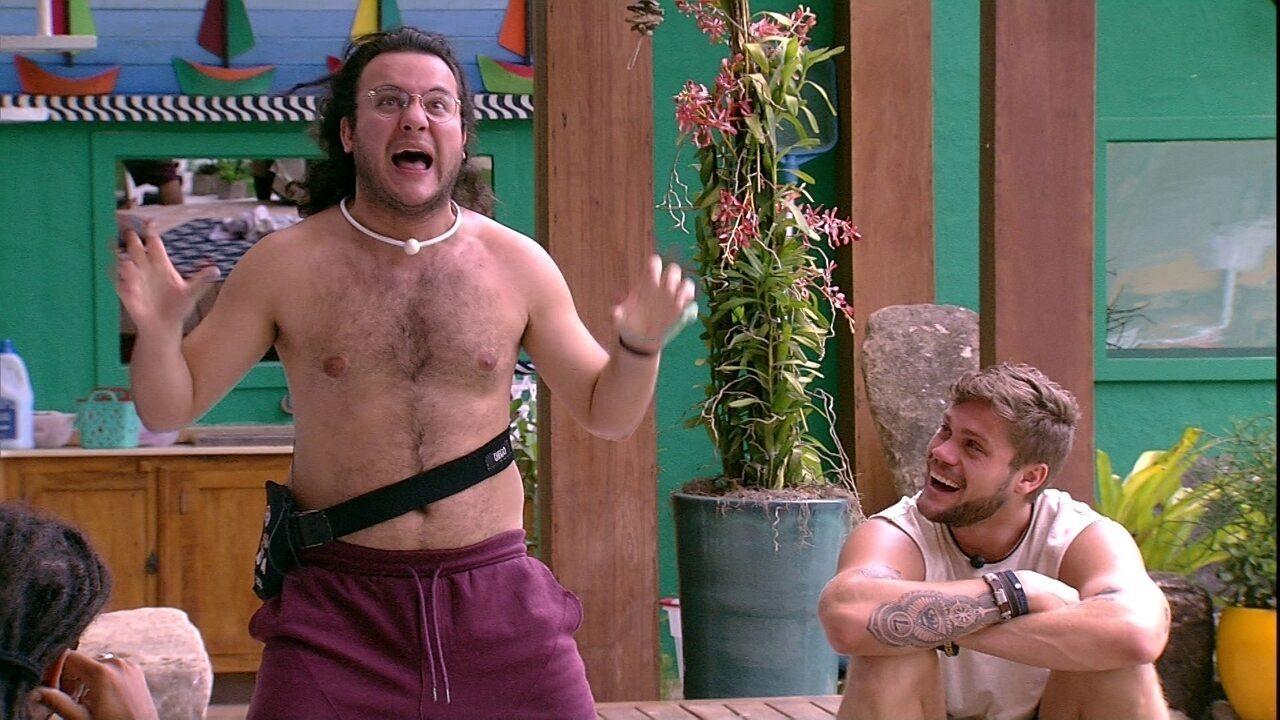 Diego lembra de brincadeira com Kaysar: 'Se preparou para uma noite com Pat'