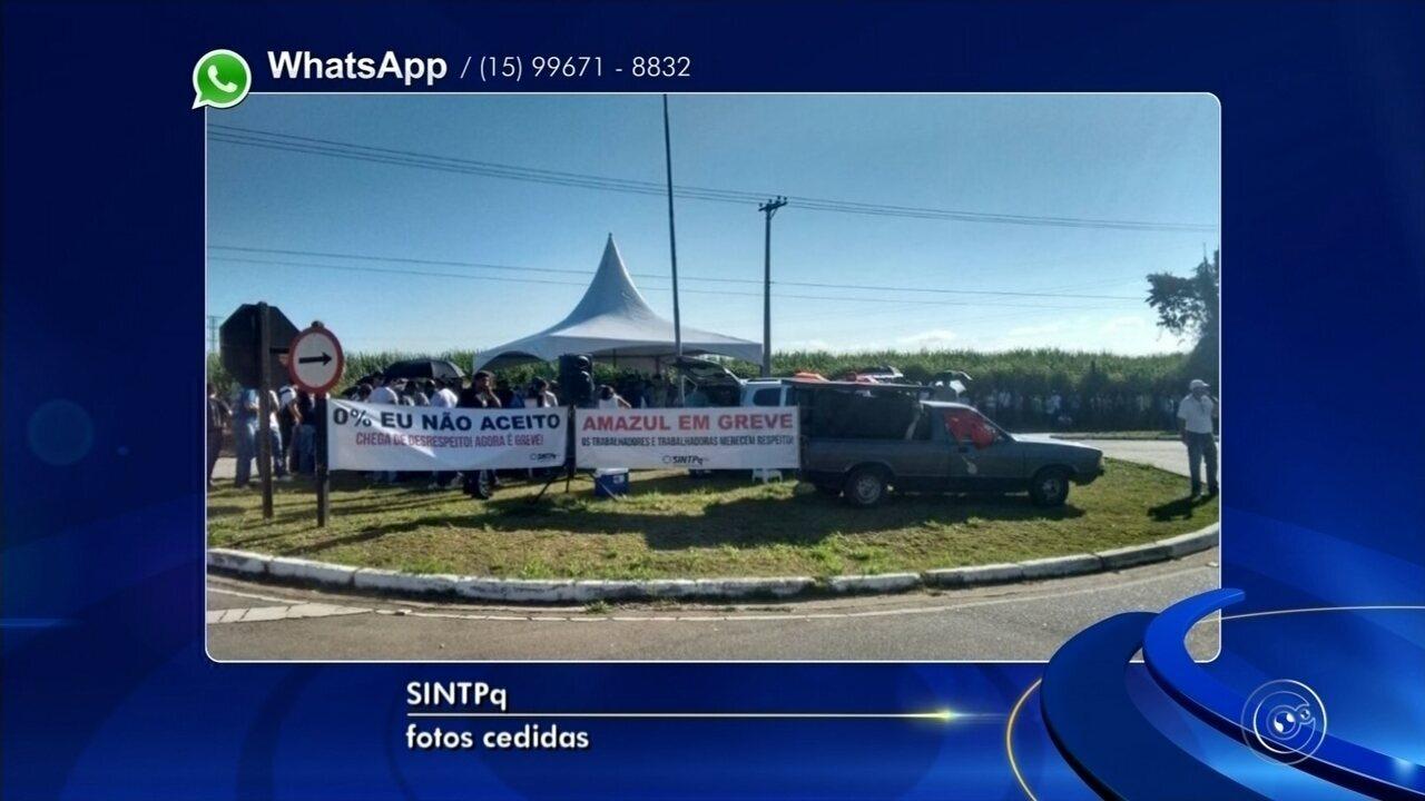 Funcionários da Amazul continuam em greve